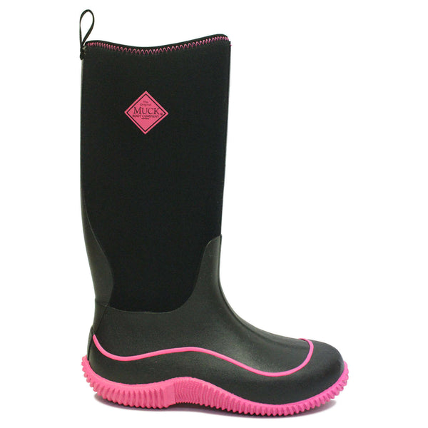 Muck Hale Synthetic Textile Womens Boots#color_black hot pink