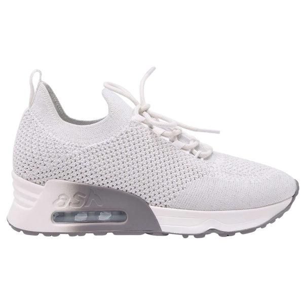 Ash Lunatic Bis Synthetic Textile Womens Trainers#color_white lurex