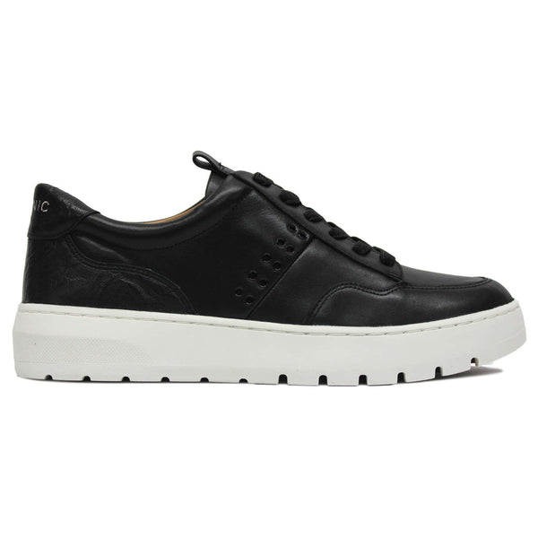 Vionic Abyss Ysenia Leather Womens Trainers#color_black