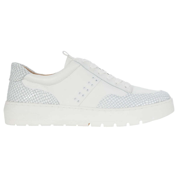Vionic Abyss Ysenia Leather Womens Trainers#color_white
