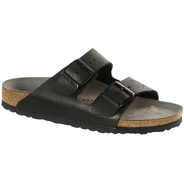 Birkenstock Arizona Leather Unisex Sandals#color_washed metallic antique black