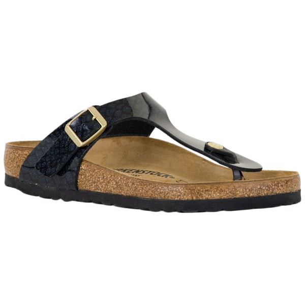 Birkenstock Gizeh Birko-Flor Unisex Sandals#color_magic snake black