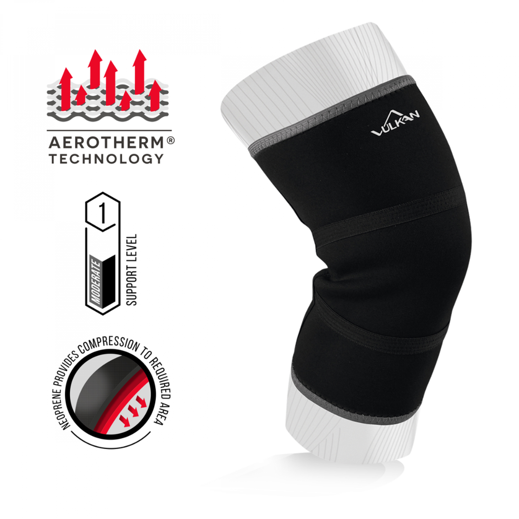 Vulkan Knee Support, Targeted Heat Retention/Compression, Manages Arthritic Pain, Sprains & Ligament Injuries