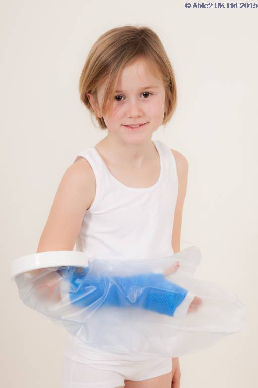 Atlantis Child Short Arm Water Proof Cast Protector, Kids Bath and Shower Cast Cover