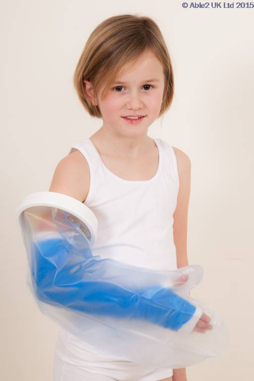 Atlantis Child Full Arm Water Proof Cast Cover, Kids Bath and Shower Cast Protector