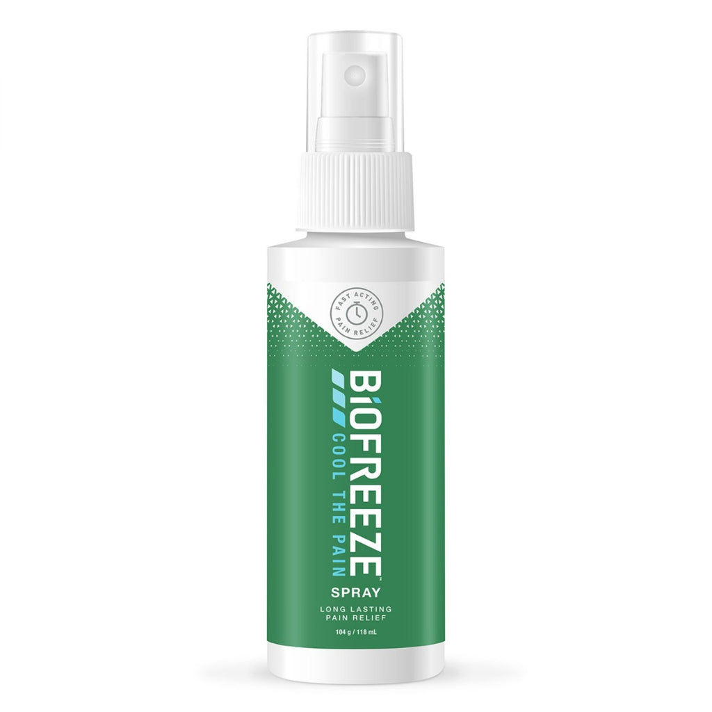 New Biofreeze Spray Pump 104g/118ml - Fast Acting Pain Relief For Muscle Strains and Pains