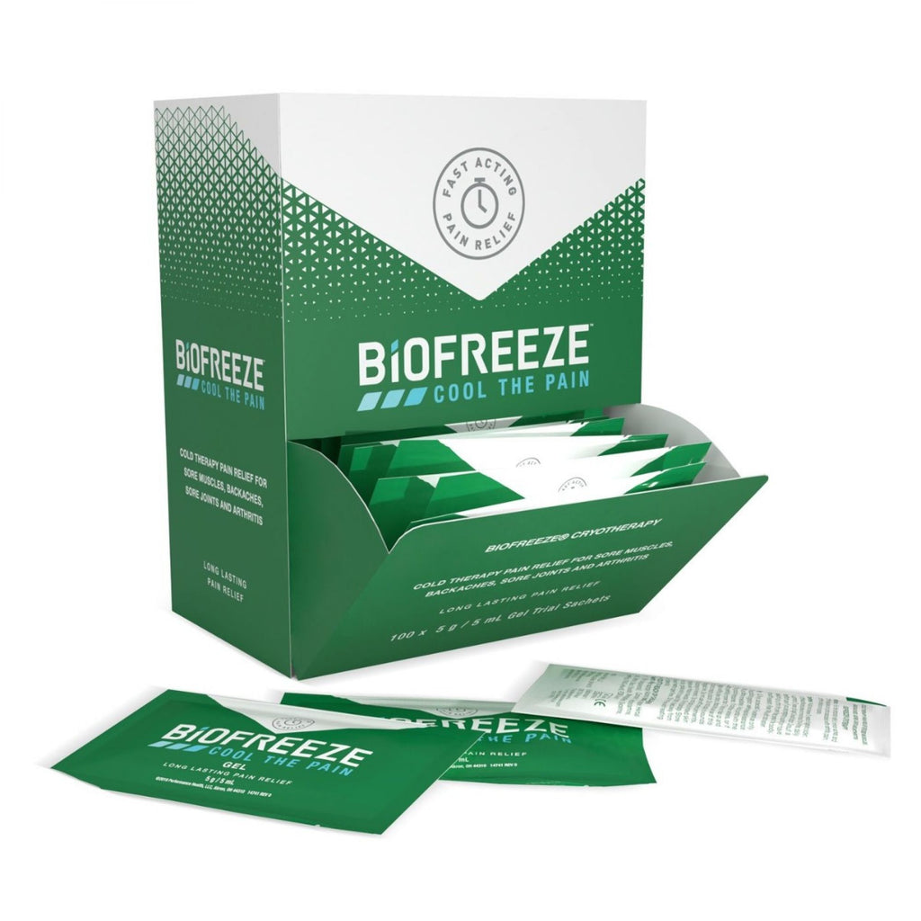Biofreeze Sachets Dispensing Unit Contains 100 x 5ml Individual Packets