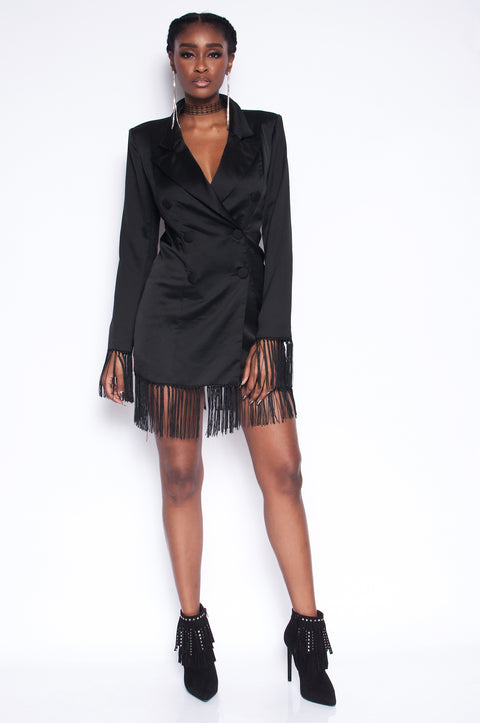 Board Room Bae Tuxedo Dress