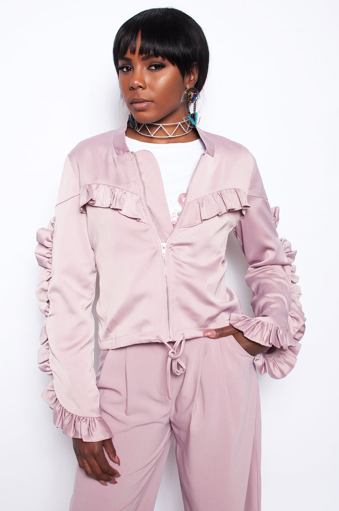 Werk Satin Bomber - Blush