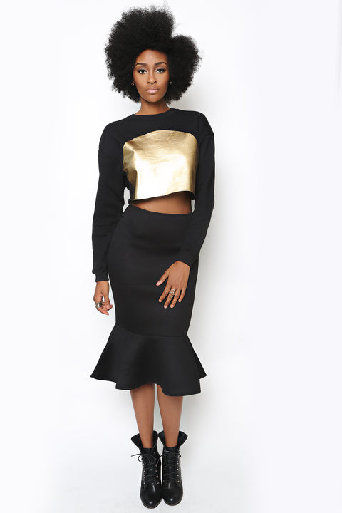 Black Lotus Skirt