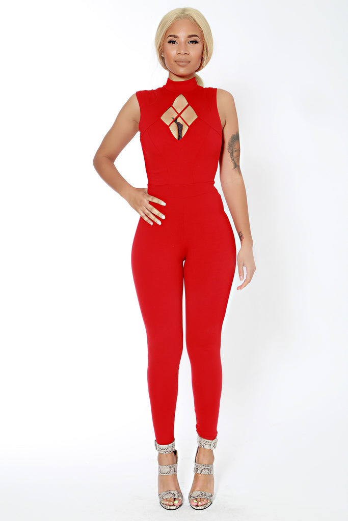 Queen Of Hearts Jumpsuit