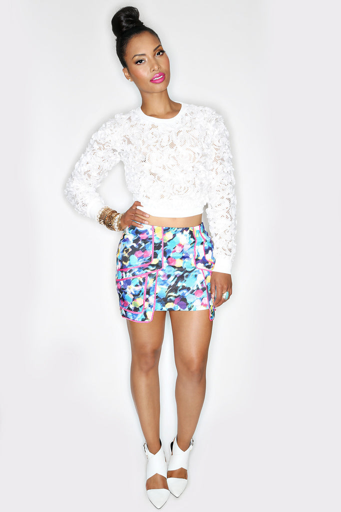 Monet Mini Skirt