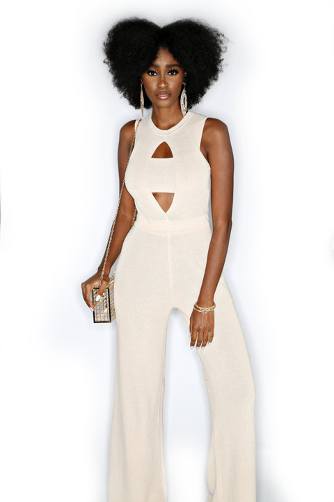 Band-O Jumpsuit - Taupe