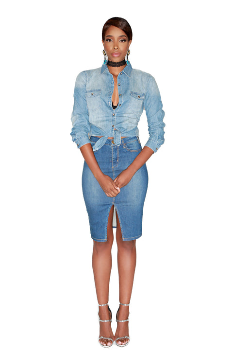 'Do The Werk' Denim Shirt