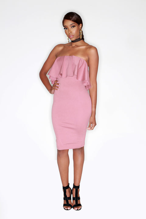 Llauryn Dress - Mauve