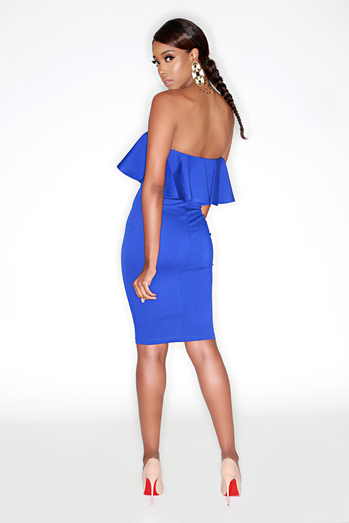 Llauryn Dress - Royal Blue