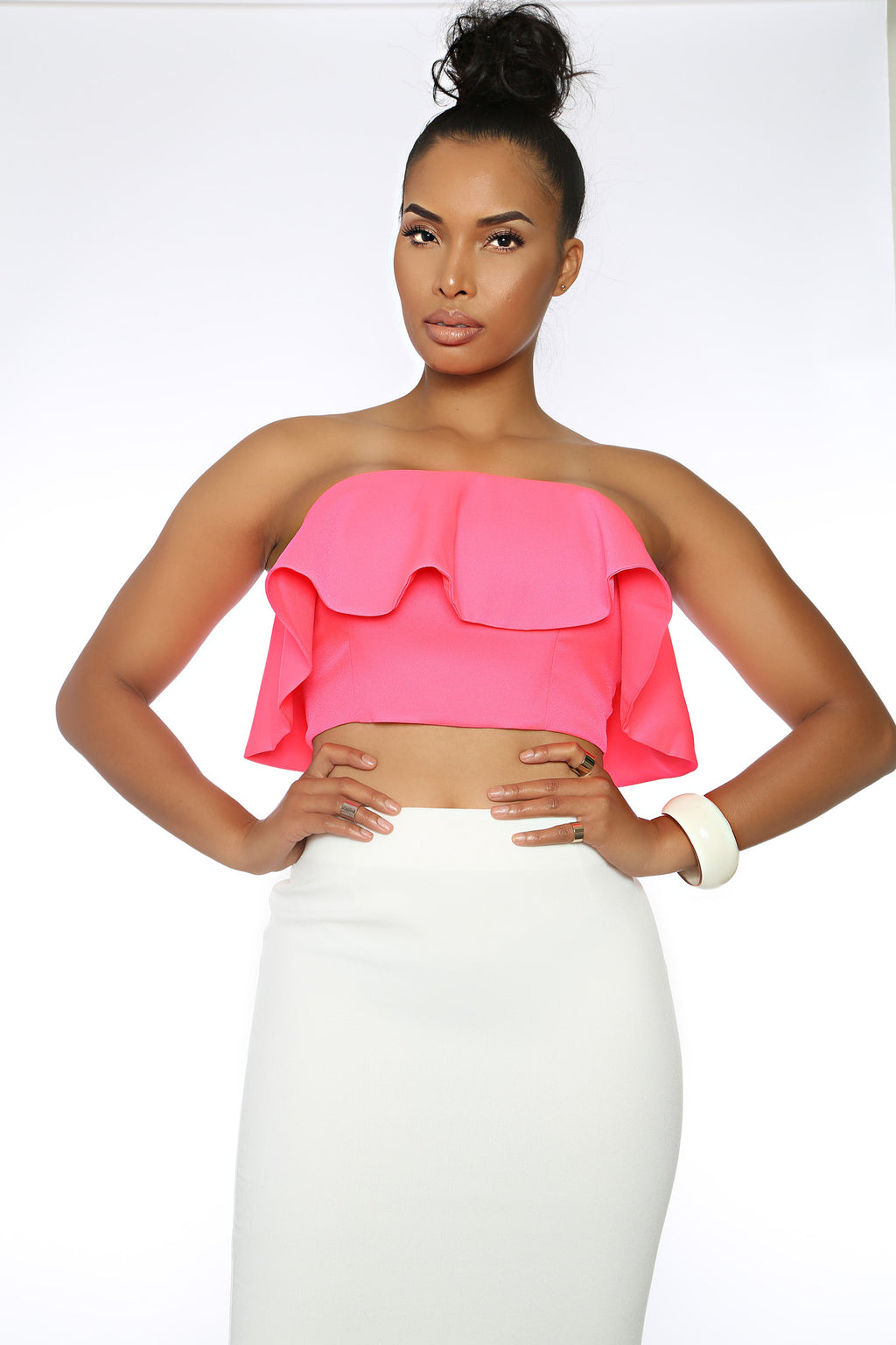 Shane Crop Peplum Top (pink)