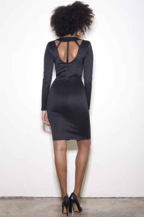 Diamond Back Dress - Black