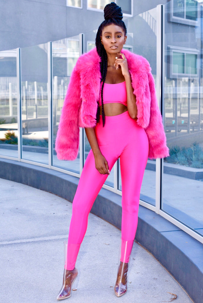 Haute Pink Faux Fur Jacket