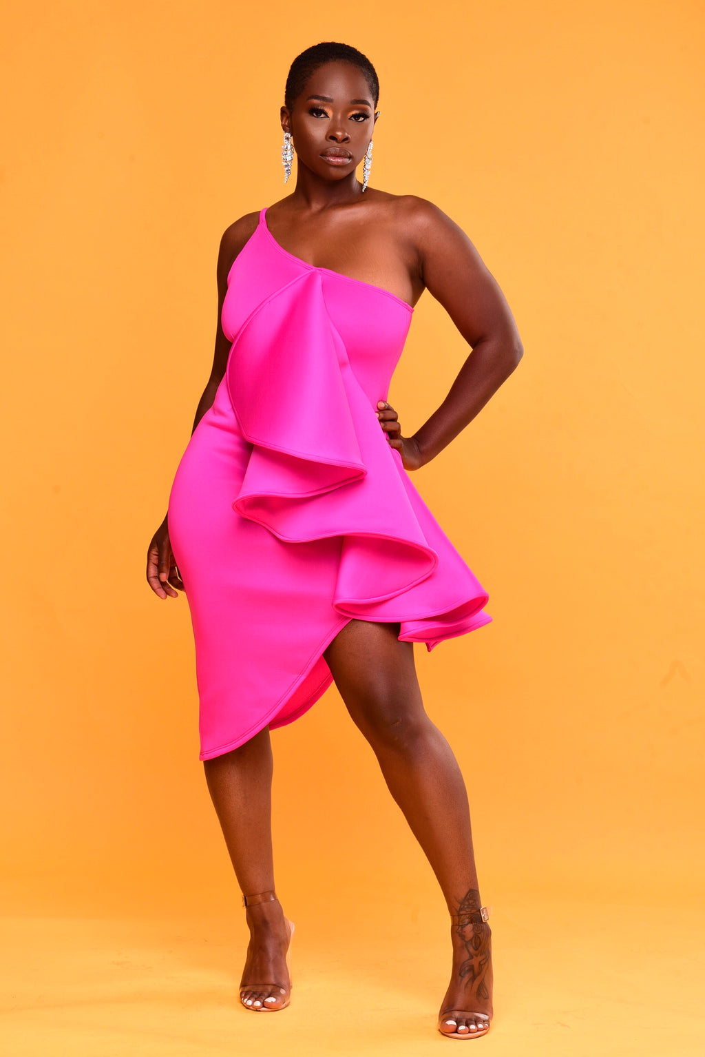 Glam Girl Dress (Hot Pink)