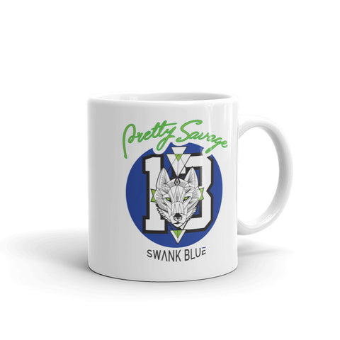 Pretty Savage x SWANK Blue Mug