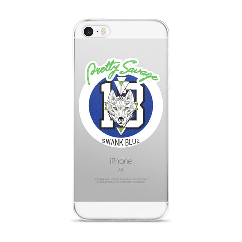 Pretty Savage x SWANK Blue iPhone 5/5s/Se, 6/6s, 6/6s Plus Case