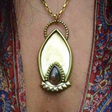 Load image into Gallery viewer, Ornate Brass Pendant