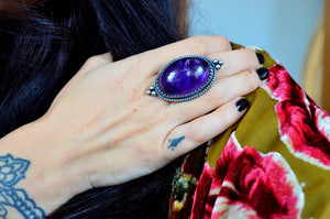Large Amethyst Statement Ring