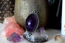 Load image into Gallery viewer, Large Amethyst Statement Ring