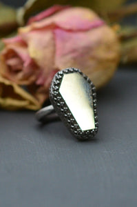 Pyrite Coffin Ring