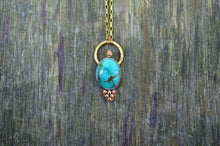 Load image into Gallery viewer, Turquoise Copper & Brass Pendant