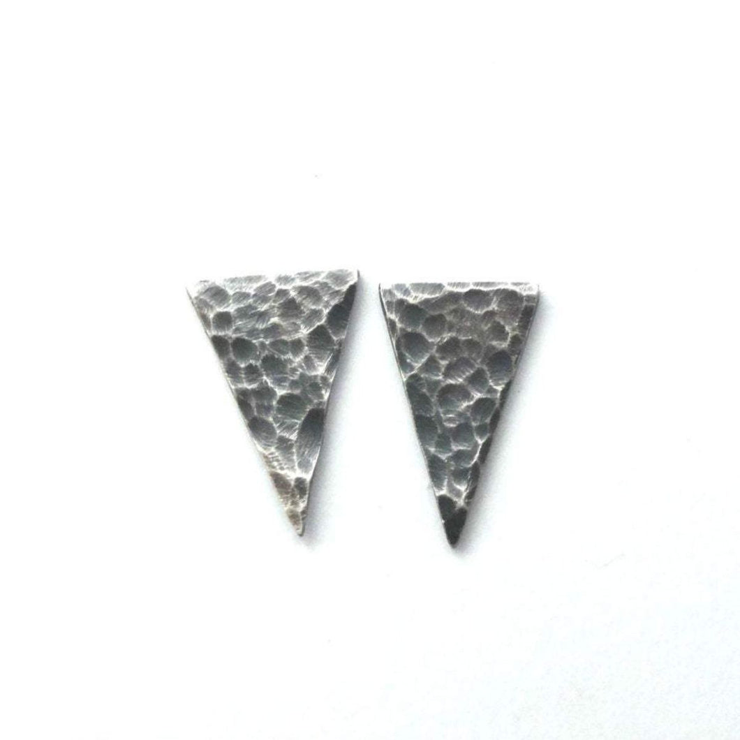 Hammered Sterling Silver Arrowhead Studs