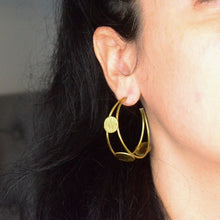 Load image into Gallery viewer, Coin Hoop Earrings