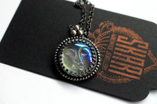 Load image into Gallery viewer, Full Moon Sterling Silver Necklace