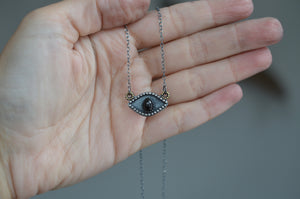 Onyx Eye Talisman Necklace