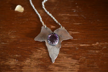 Load image into Gallery viewer, Fae Amethyst Ivy - Sterling Silver & Amethyst Ivy Leaf Necklace