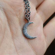Load image into Gallery viewer, Textured Crescent Moon Pendant