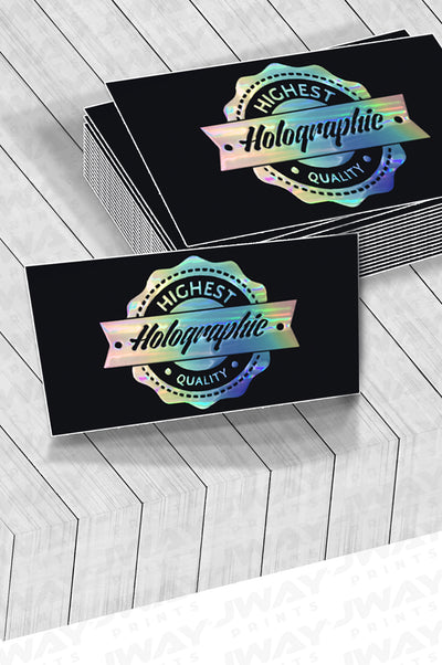 Raised Holographic Foil Business Cards