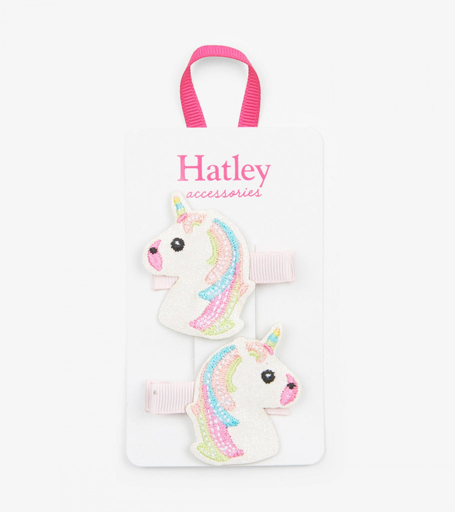 Hatley glitzy unicorns glitter hair clip - The Mango Tree
