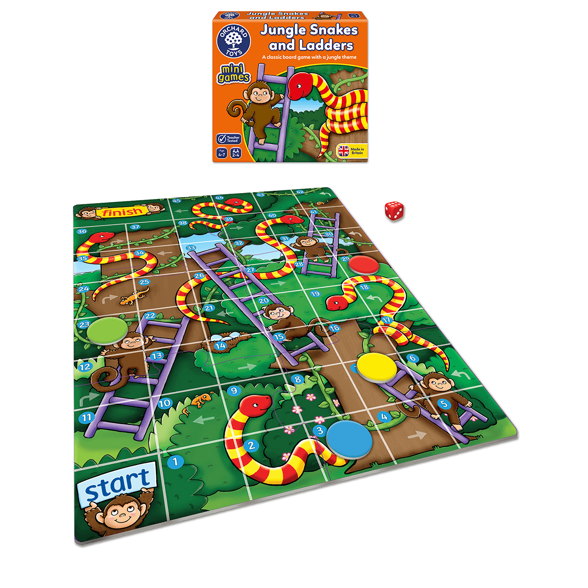 Orchard Jungle Snakes & Ladders - The Mango Tree