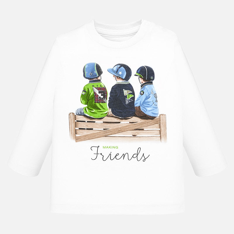 Mayoral long sleeve friends t-shirt - The Mango Tree
