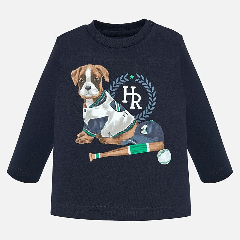 Mayoral long sleeve dog t-shirt - The Mango Tree