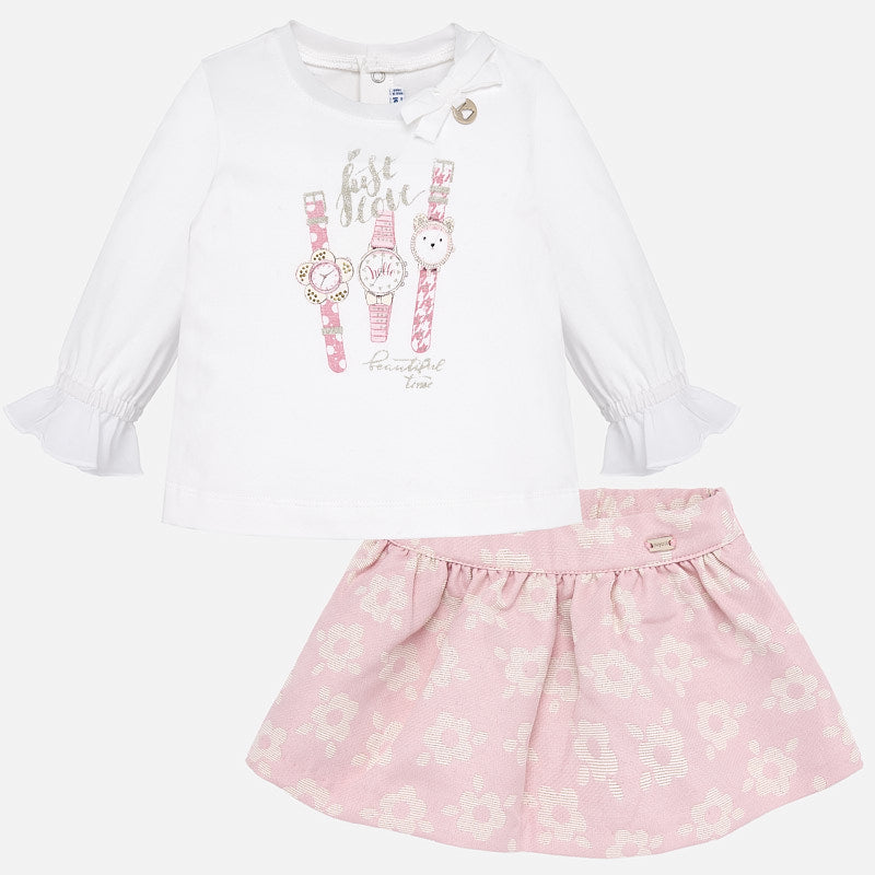 Mayoral rose flowery skirt set - The Mango Tree