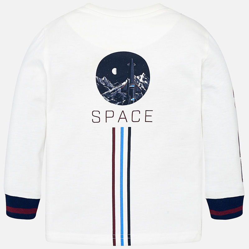 Mayoral long sleeve space t-shirt - The Mango Tree