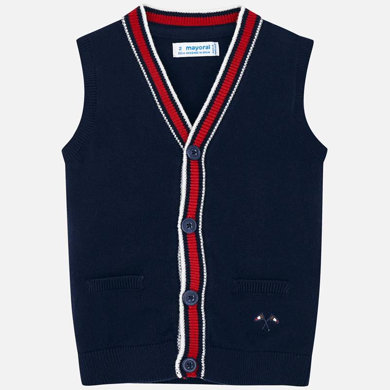 Mayoral navy knitted vest - The Mango Tree