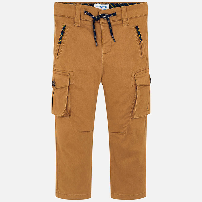 Mayoral caramel chino pants - The Mango Tree