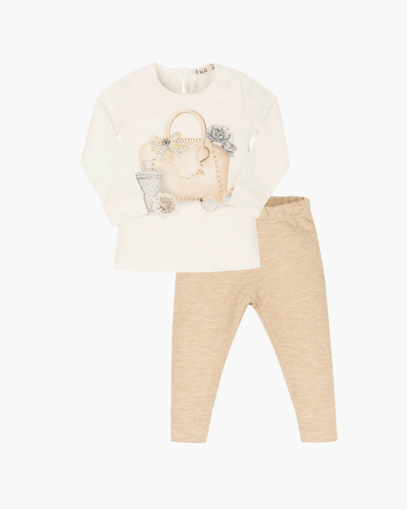 Everything Must Change ivory & gold legging set - The Mango Tree
