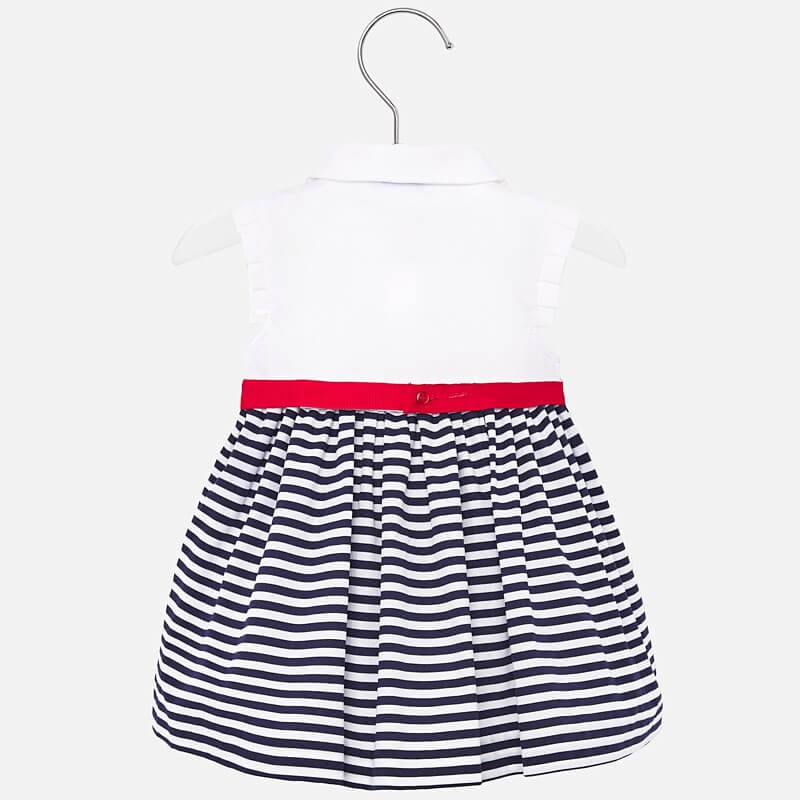 Mayoral Striped dress with bow - The Mango Tree