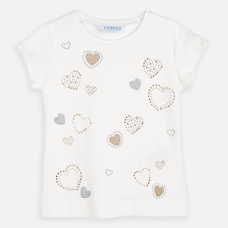 Mayoral Sparkle hearts top - The Mango Tree