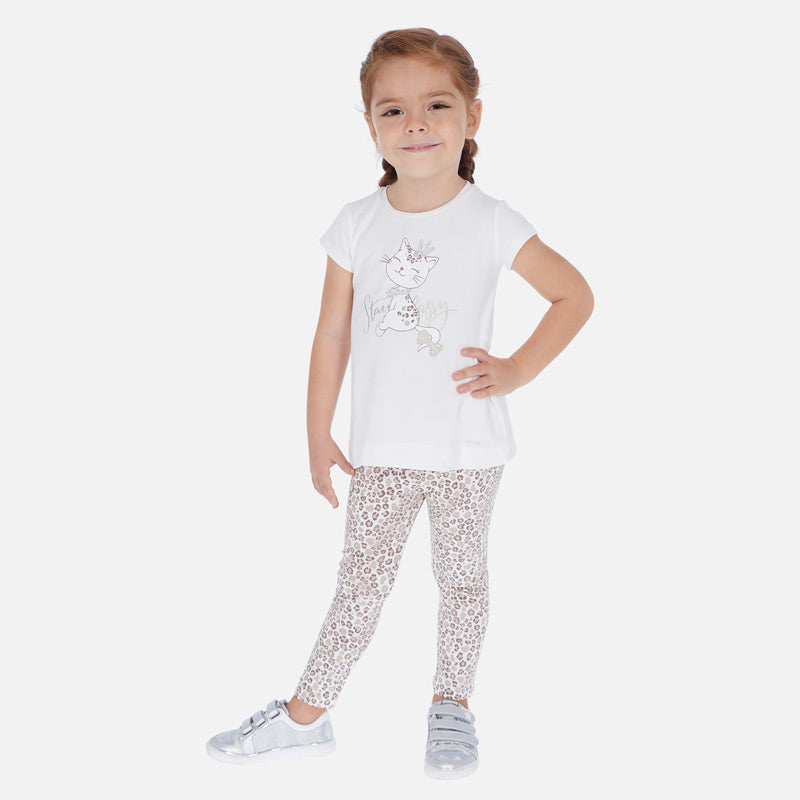 Mayoral T-shirt and pattern leggings set - The Mango Tree